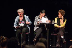Brigitte Haentjens, Suzanne Lebeau et Zab Maboungou, Chantier féministe, Espace GO